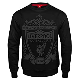 Liverpool FC Official Football Gift Mens Crest Sweatshirt Top