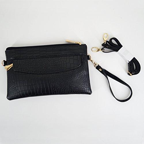 Wristlet LA Black Leather Bags Phone Shoulder Bags HAUTE Handbags Crossbody Clutch Wallet Small Pu xrOtar