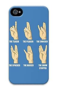 Hand Signs PC Case Cover for iPhone 4 and iPhone 4s by runtopwellby Maris's Diary