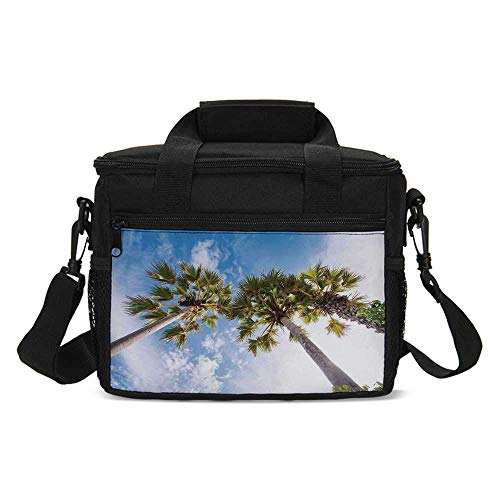 Nature Lightweight Lunch Bag,Palm Tree at Phromthep Cape Phuket Thailand With Summer Sky View Holiday Picture for Daily Use,One size