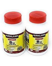 Kirkland Signature Kirkland Sublingual B12 5000 Mcg 2 Bottles 300 Tablets Each