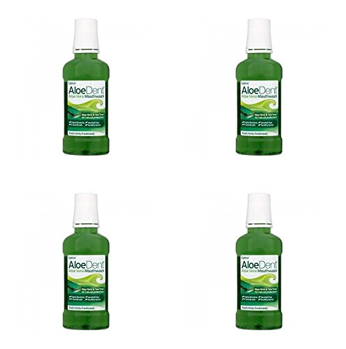 Aloe Vera Oral Care Mouthwash - (4 PACK) - Aloe Dent Aloe Vera Mouthwash | 250ml | 4 PACK - SUPER SAVER - SAVE MONEY