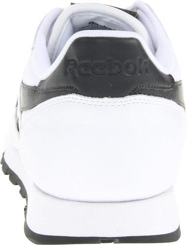 Reebok Menns Klassiske Skinn Pop Mote Sneaker Hvit / Grus / Blågrønn Perle / Stål