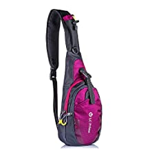 Sling Bag, Tiny Compact One Shoulder Backpack, for Hiking Theme Parks Day Trips, by LC Prime