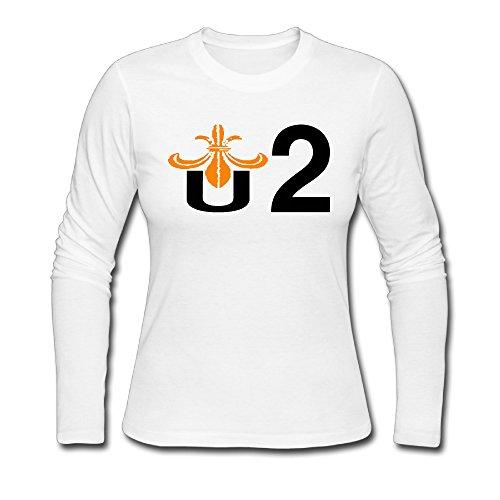 (NOLAii U2 Logo Custom Women's Blank Long Sleeve Round Neck T-Shirt Fall/Winter)
