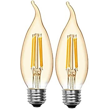 Ge Lighting 42152 Amber Glass Light Bulb Dimmable Led