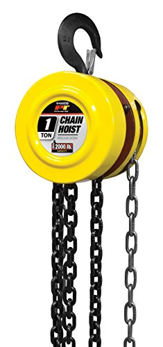 Performance Tool W4005DB Manual Hoist with 2 Hooks, 1 Ton (2,000 lb) Capacity  8' Chain Hoist (8 Ton Truck With Crane For Sale)