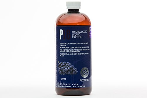 Proteinex Liquid Protein - Proteinex-18 Liquid Pure Protein, Grape, 18g of Protein per Serving, 30 Fluid Ounce, Collagen Based Supplement, for Individuals That Require Additional Protein Supplementation