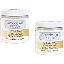 Deco Art Americana Decor Creme Wax, 8-Ounce, Clear (2-Pack)