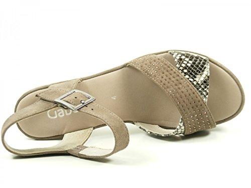 Gabor 65-752 Sandalias fashion de cuero mujer Braun