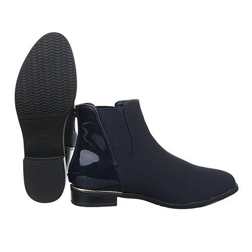 Ital-Design - Botas Chelsea Mujer azul oscuro