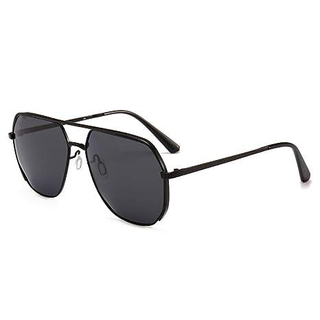 Yangjing-hl Gafas de Sol con Montura metálica para Hombre de ...