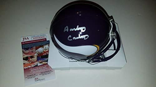 Anthony Carter Autographed Signed Minnesota Vikings Mini Helmet Memorabilia JSA Witness
