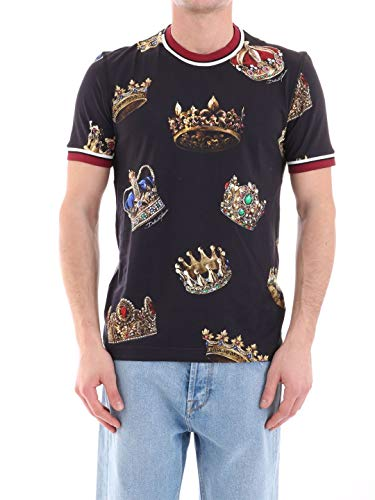 Dolce Cotton Shirt Gabbana & Dress (Dolce e Gabbana Men's G8ir4tfs74bhnv93 Black Cotton T-Shirt)