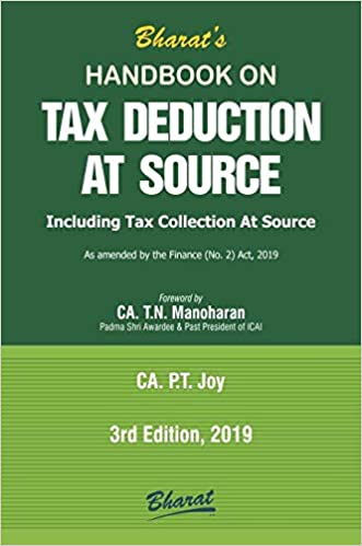 Handbook on TAX DEDUCTION AT SOURCE 2019 by CA. P.T. JOY