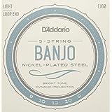 D'Addario EJ60 Nickel 5-String Banjo Strings, Light, 9-20