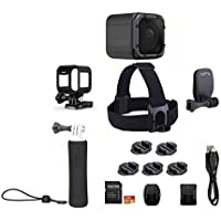 GoPro HERO5 Session Action Camera Bundle (10 Items): Hero5 Camera, Frame, Mounting Buckle, 7 Flat & Curved Adhesive Mounts, Head Strap, QuickClip, Floating Hand Grip, USB-C cable, 16GB MicroSD
