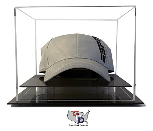 Case Cap Hat Display (GameDay Display Desk or Counter Top Hat or Cap Display Case by)