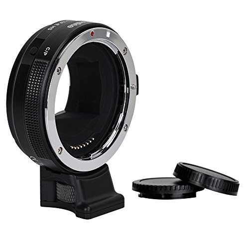 Commlite CM-EF-E HS Canon EF/EF-S Lens to Sony E-Mount High-Speed Electronic AF Lens Adapter for Sony A9 A7RIII A7RII A6000 A6300 A6500,with CDAF& PDAF Functions (USB port Firmware Update) by Commlite