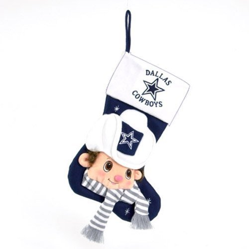 Scottish Christmas Dallas Cowboys NFL Baby Mascot Stocking - 22 ...