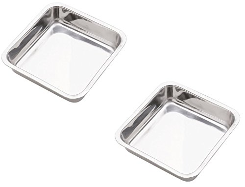Norpro 7.5-Inch Stainless Steel Cake Pan, Square(2PK) ()