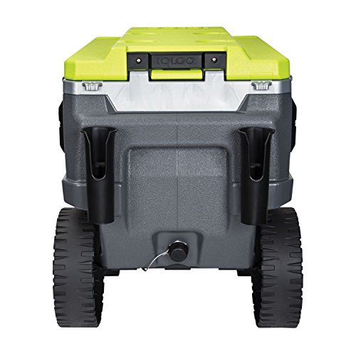 Igloo Trailmate Journey Cooler, Charcoal/Acid Green/Chrome, 70 quart
