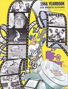 1968 Los Angeles Dodgers Yearbook