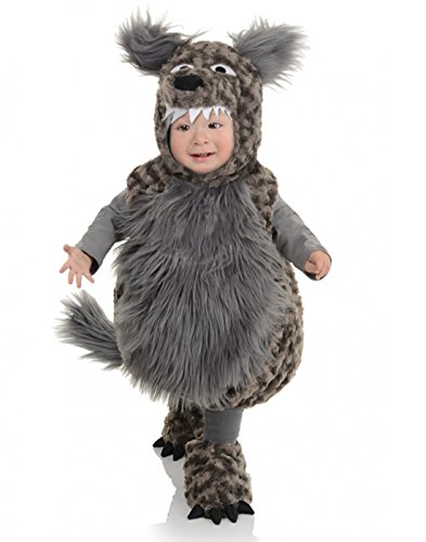 Underwraps Baby's Wolf Belly, Dark Grey, Medium (Halloween Costumes For 1 Year Old Boy Uk)