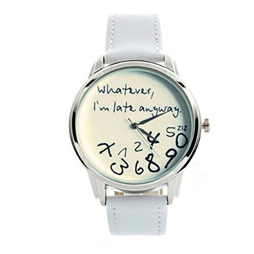 Whatever anyway Leather Silver Quartz product image