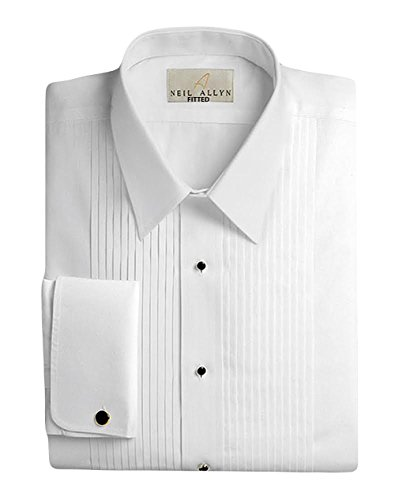 Neil Allyn Men's 100% Cotton Tuxedo Shirt, Slim Fit, 15.5 (34/35) by Neil Allyn