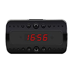 VOTECOM Wi-Fi Camera Alarm Clock Wireless Full HD 1080P Motion Detection Activated Alarm App Real-time Video Remotely Monitoring for Home Security and Surveillance Nanny Cam
