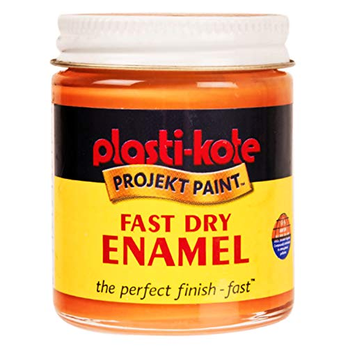 (Enamel Project Craft Paint 2oz Jar Plasti-Kote Tangerine Orange Fast Dry)