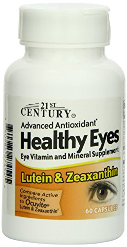 21st Century Healthy Eyes Lutein and Zeaxanthin Capsules, 60 Count Pack of 3