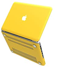 """iBenzer Basic Soft-Touch Series Plastic Hard Case Cover for Old Macbook Pro 13"""" with CD-ROM (A1278), Yellow CA-MP13YW"""