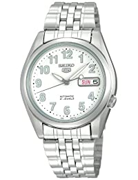 Seiko Men's SNK377 Automatic-Self-Wind White Dial Watch