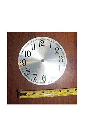 Clock Maker Kit with Quartz Movement 6mm, Silver Face Diameter - Face Diameter