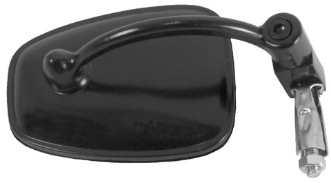 EMGO POLARIS ATV HANDLEBAR END MOUNT MIRROR - BLACK, Manufacturer: EMGO, Manufacturer Part Number: 20-34010-AD, Stock Photo - Actual parts may vary.