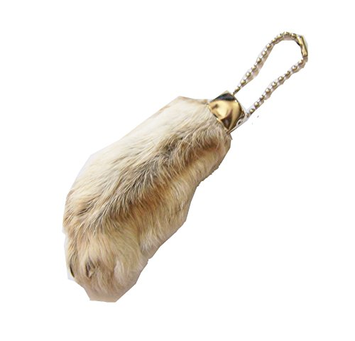 All Natural Lucky Rabbit Foot Keychain (Natural White)]()