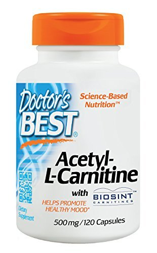 Doctor's Best Best Acetyl L-carnitine Featuring Sigma Tau Carnitine (500 mg), Capsules, 120-Count by Doctor's Best
