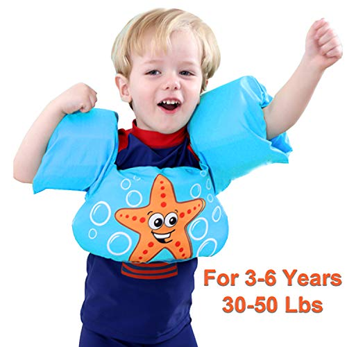 Kids Life Jacket, Baby Swim Sleeves Vest with Arm Wings 30-50 lbs for Boys Girls Infant Baby Toddler Baby Float for Pool Puddle Sea Beach Playing and Jumpers Swim Aid Floats Life Vest