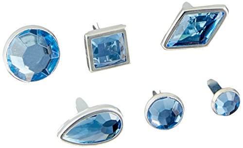 Karen Foster Design Birthstone Brads March, 18-Piece by Karen Foster Design