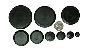 50 piece flush mount black hole plug assortment for auto body and sheet metal. Black Bedroom Furniture Sets. Home Design Ideas