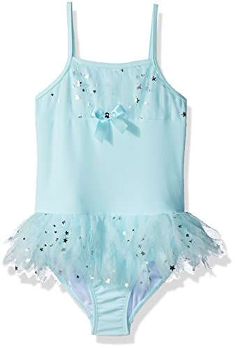 Kate Mack Little Girls' Fairy Dance 1pc Swimsuit, Aqua, 5 (Bow Mack Kate)