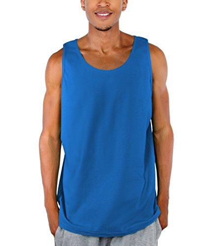 [Pro Club Men's Comfort Cotton Tank Top, Royal, Small] (Football Club Cotton)