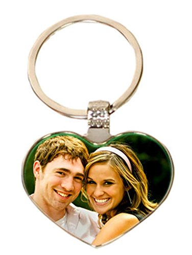 pyramidmart personalized photo printed heart shape keychain amazon