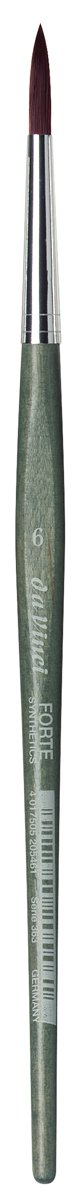 da Vinci Modeling Series 363 Forte Gaming and Craft Brush, Round Extra-Strong Synthetic with Blue-Green Handle, Size 6