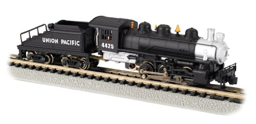 2 Steam Locomotive Number (Bachmann Industries #4425 USRA 0-6-0 Switcher Locomotive and Tender Union Pacific Train Car, Black/Silver, N Scale)