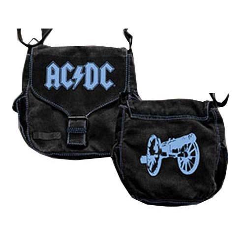 AC/DC BLUE BAND LOGO AND CANNON WOMEN'S HANDBAG
