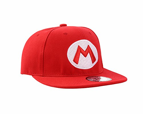 Super Mario Red Snapback Baseball Cap by True heads, Adjustable, Red