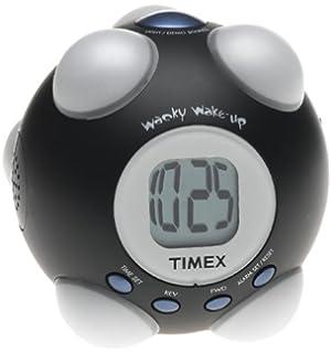 Captivating Timex T156B Wake Up Shake And Wake Alarm Clock (Black)